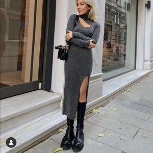 Zara Low Heel Lug Sole XL Boots